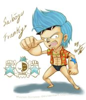 One Piece - Chibi_Franky by Koret-Sirsep