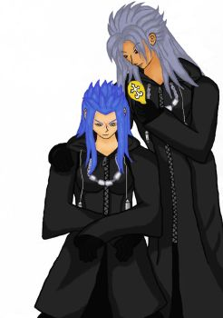 Saix's hairstylist by falcongirl02