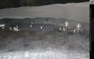 Moon Surface Diorama Model by DamselStock
