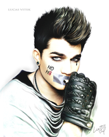 Adam Lambert - NOH8 by lucasthefierce