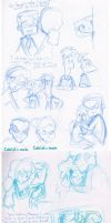 Calleigh Story Sketchdump by KicsterAsh