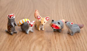 Animal totems from a polymer clay by lifedancecreations
