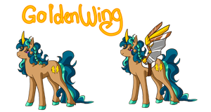 Mlp Oc: GoldenWing by HorizonDreams