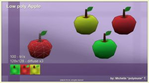low poly apple by PolyMune