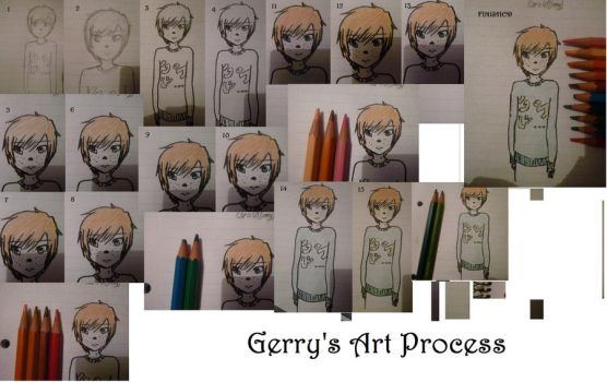 Gerry's Art Process by ChocaholicX-Ray