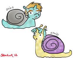 Snips and Snails as Snails by skookum