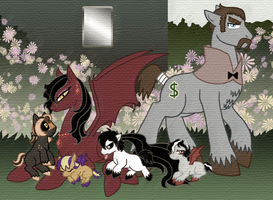 MLP FSIM fanpony family by The-Clockwork-Crow