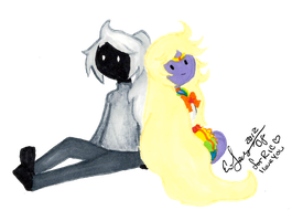 Rainicorn + Monocromicorn by BunniiChan