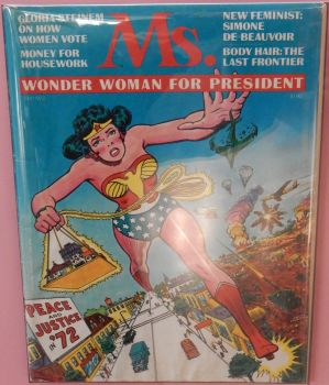 July 1972 Ms Magazine - Wonder Woman for President by rlkitterman
