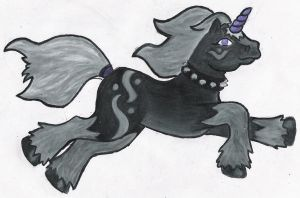 my little shadow unicorn by throughtherain67