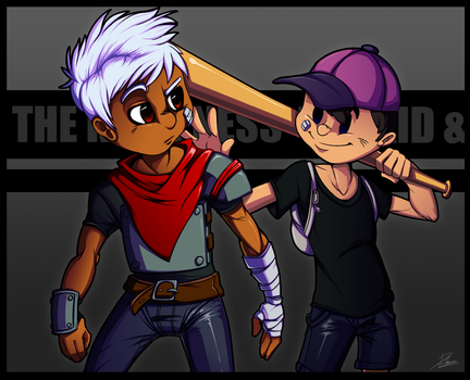 Con Badge: Ness and the Kid by DroseAttack