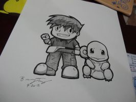 Pokemon-Gary and Squirtle by xKeren