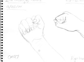 Hand Study 1 by CartoonMad97