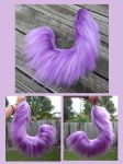Commission 20in - Purple Wire Yarn Tail by Black-Heart-Always