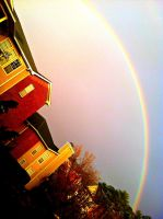 Somewhere over the rainbow, skies are blue. by forever--yours