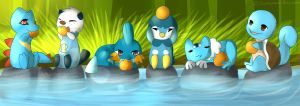 :Water Type Party: A orange Feast! by Samooraii