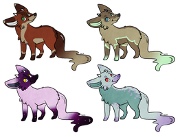 Bubble Foxes Adoptables - OPEN by naida4