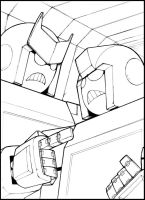 Ratchet, Ironhide 2 WIP by LoneOld