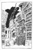 the library by Cultured-Evil-Genius