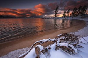 Snowy Beach by EtherealSceneries