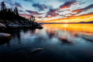 October Evening Color at Tahoe by sellsworth