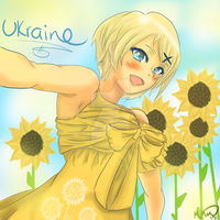 Ukraine in Sunflower Dress by maypleleaf0701