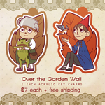 Over the Garden Wall Key Charms by Synnesai