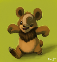 Daily 4 - Teddiursa  (30 Minutes) by Cryptid-Creations