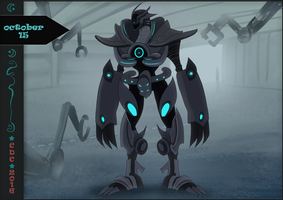 CDC oct: Day 15th - Ultra Robotic warrior by iCassiekinz