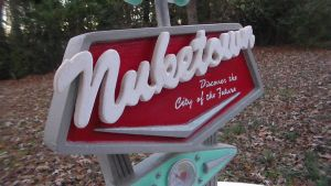 Nuketown 2025 Miniature Town Sign Replica by faustdavenport