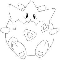 Togepi Lineart 1 by Anime-Bases-Free