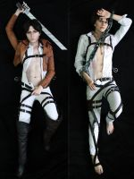 Dakimakura Levi/Eren by Tovarish-N