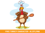 Free Turkey Character by pixaroma