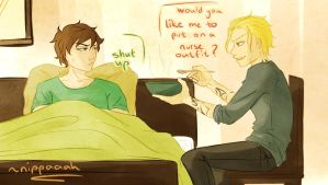 Request: Jace and sick!Simon by Nippaaah