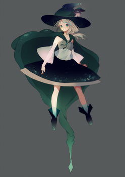 Forest witch! + speedpaint by Hoshi-Pan