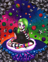 Psychedelic Ballpoints by Chibi-Sugar