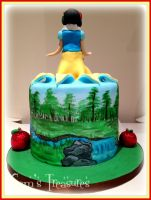 Snow White and the Seven Dwarfs Cake by gertygetsgangster