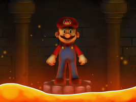 AoK#05 Mario in the underground Lava castle by AoK-TRIXIholic