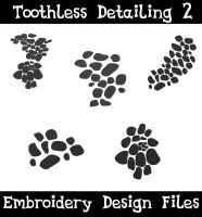 Toothless Scale Set [EMBROIDERY FILE] by TheHarley
