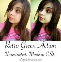 Retro Green Action by sd-stock