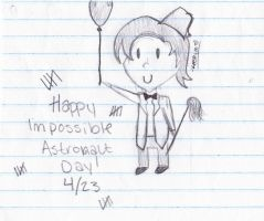 Happy (Late) Impossible Astronaut Day by KandyKitty101
