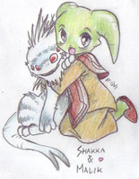 Shakka and Malik by Qvi