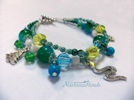 Bracelet New Year Snake by NastasiaHands