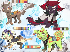 Chibi Adopts points (3/4 open) by xSpickeyx
