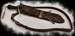 Wasteland Crow Leatherwork by Obsidian-Sun