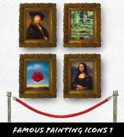 Famous Paintings Icons 1 by fruit4dinner