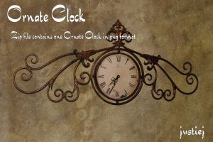 Cutout PNG - Ornate Clock by justiej