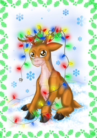 Christmas Deer by TheKohakuDragon