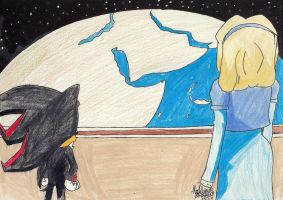Maria Robotnik and Shadow the Hedgehog by RobotToxic