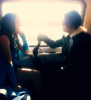 Rinoa and squall on train by Piccolapiplup